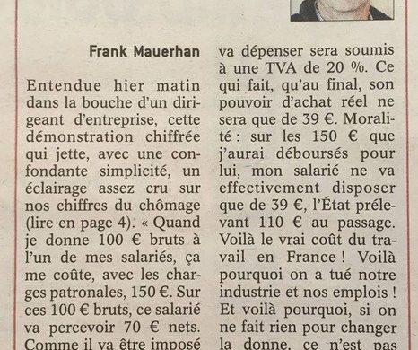 Incapacité à produire en France