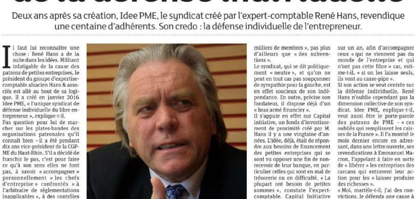 « IDEE PME, AU NOM DE LA DÉFENSE INDIVIDUELLE »
